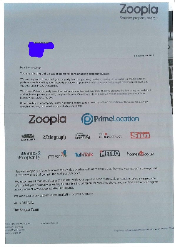Zoopla letter revised