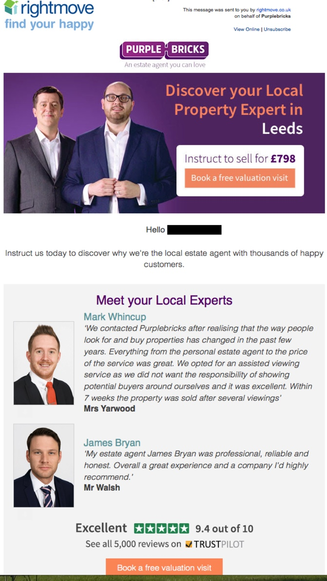 agent s anger as rightmove partners helps advertise purplebricks to